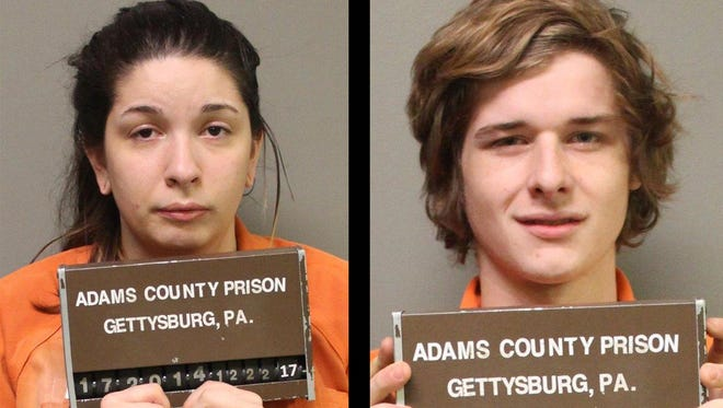 Paige Marie Richardson, 21, left, and Zachary Jonathan Bell, 18.