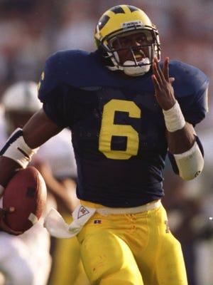 Former Michigan running back Tyrone Wheatley.