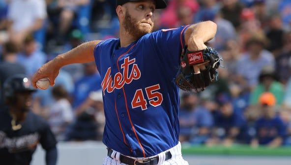 Zack Wheeler throws a pitch Friday afternoon.