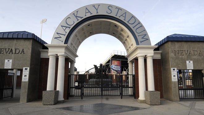 Wolf Pack coach Brian Polian said his program's facilities (or lack thereof) affects the quality of player he can recruit. Above, the entrance to mackay Stadium, which is getting a major renovation in 2016.