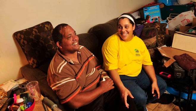 Kenny and Maria Holley will celebrate the dedication of their new Habitat for Humanity home in Nashville on Friday.