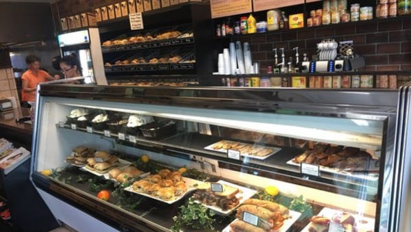 Broadway Bagels and Deli's cases feature fresh salads, desserts and ready-made sandwiches for those on the go. They make several varieties of bagels and bialys from spicy jalapeno to sweet French toast along with several flavors of cream cheese including scallion, raisin and lox.