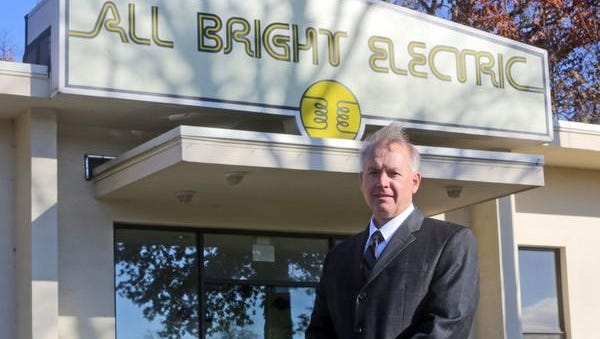 Jim Johannemann, president of All Bright Electric in West Nyack, photographed Nov. 14, 2014. His company has installed sophisticated security and surveillance systems for the Tappan Zee Bridge construction project to help guard against theft and vandalism.