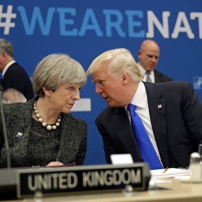 British Prime Minister Theresa May and U.S. President