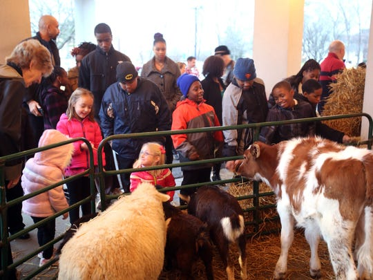 Kids loved the animals that were part of the church's Christmas Around the World program Sunday, which 400-500 people were expected to attend.