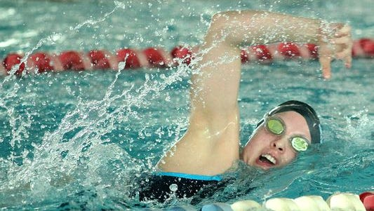 Sacred Heart swimmer Leah Stevens was honored as female athlete of the year at Tuesday's Kentucky Hall of Fame event.