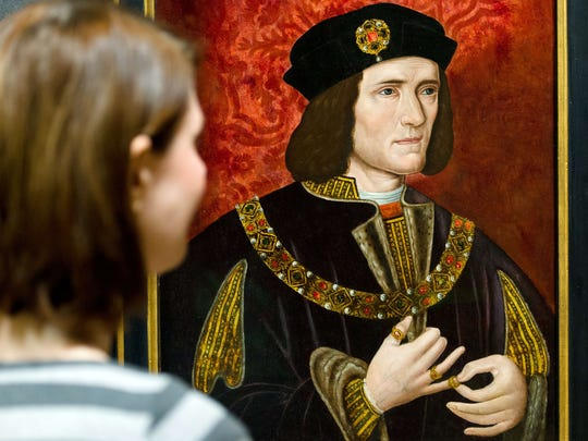 A painting of medieval English king Richard III by an unknown artist displayed in the National Portrait Gallery in central London.
