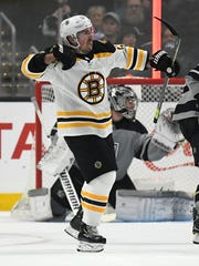 Bruins forward Brad Marchand has scored at least 30 goals in each of the past four seasons.