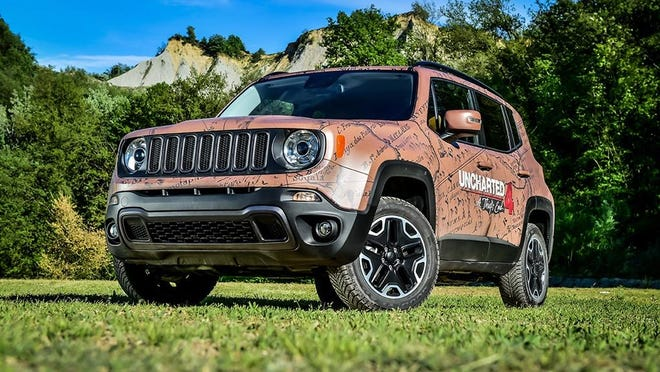 You can take a swatch of any material and Garage Italia Customs will emulate that design on your Jeep, above, or any other vehicle.