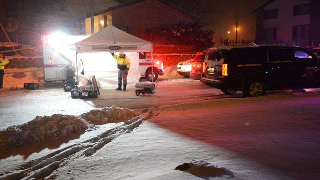 Police and support personnel from multiple agencies work at the scene of an officer involved shooting in the Southridge Park apartment complex on Monday, Jan. 28, 2019. A 29-year-old man died in the shooting involving three Jackson Police Department officers.