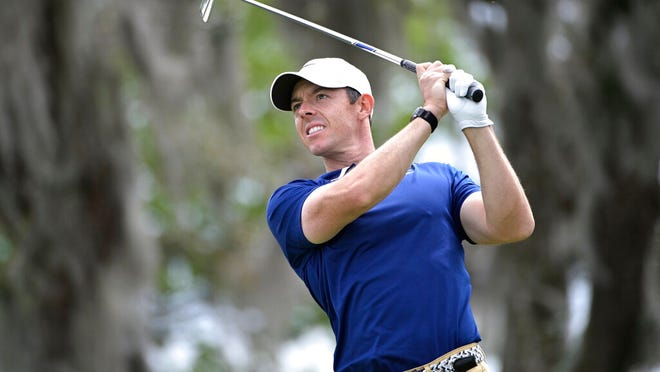 Rory McIlroy, of Northern Ireland, watches his tee shot on the second hole during the final round of the Arnold Palmer Invitational golf tournament, Sunday, March 8, 2020, in Orlando, Fla.