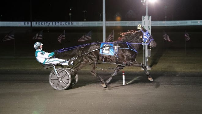 Sugar Shock, with Jim Marohn Jr. driving, won at 29-1 odds on Monday, Jan. 6, 2020.
