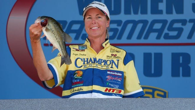 New Philadelphia graduate Angie Douthit operates her own fishing charter service in Florida, Submitted photo