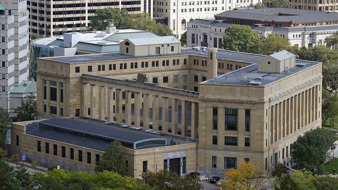 The Joseph P. Kinneary U.S. Courthouse on Marconi Boulevard Downtown houses the U.S. District Court for the Southern District of Ohio.