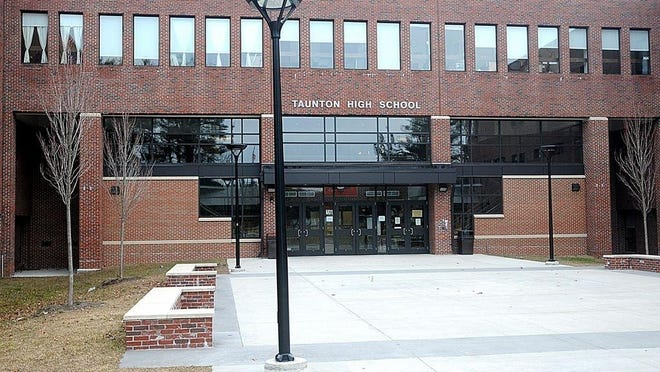An undated file photo shows the exterior of Taunton High School.