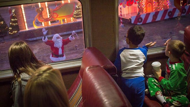 During the experience, hot chocolate and cookies will be served by dancing and singing chefs and guests will read along with the children's book,The Polar Express, by Chris Van Allsburg.