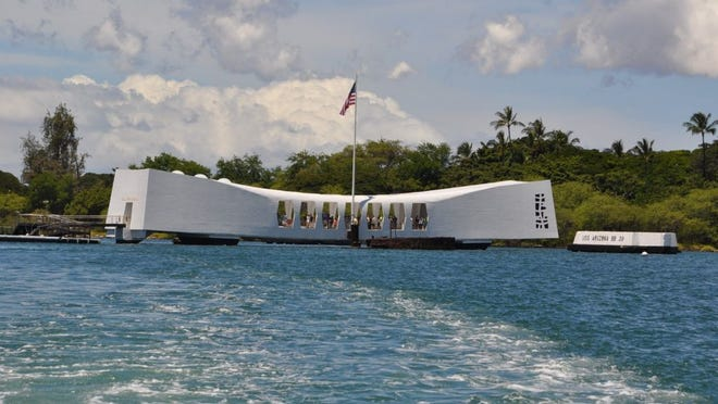 The battleship USS Arizona Memorial
