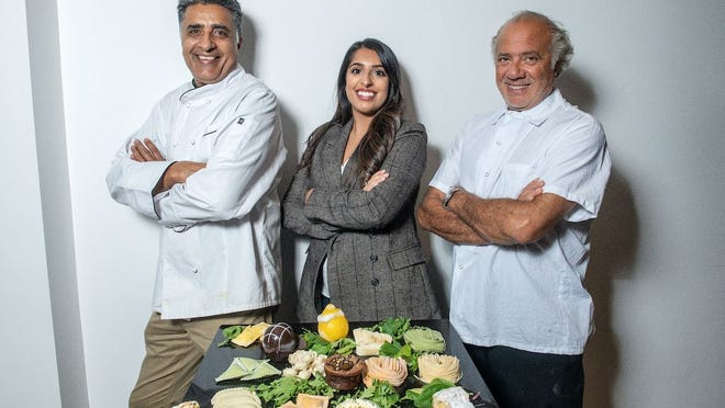 From left, Pasta Ditoni's owners Goga Bhattal and Jyoti Bhattal, with partner Giuseppe Mangano of Giuseppe's Ritrovo