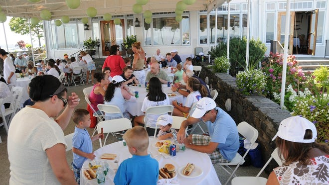"""The American Yacht Club in 2010, when the Rye club hosted Maria Fareri Children's Hospital families for a barbecue during the 6th anual Sail4Kids """"Make a Memory"""" Cruise."""