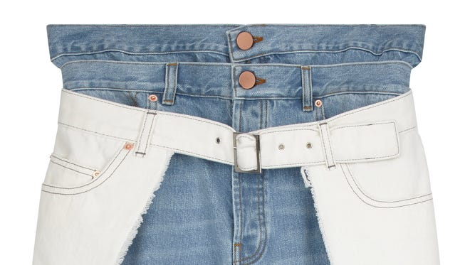 One of the many pairs of unconventional jeans ASOS has on sale.
