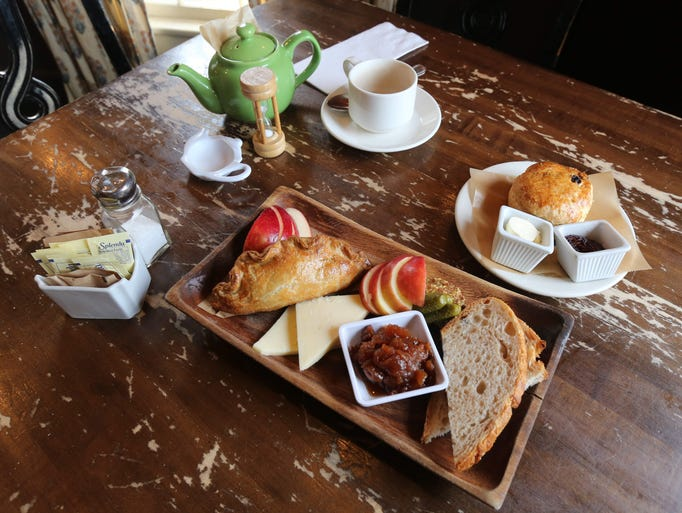 The Ploughman's Lunch: sharp cheddar, multigrain bread,