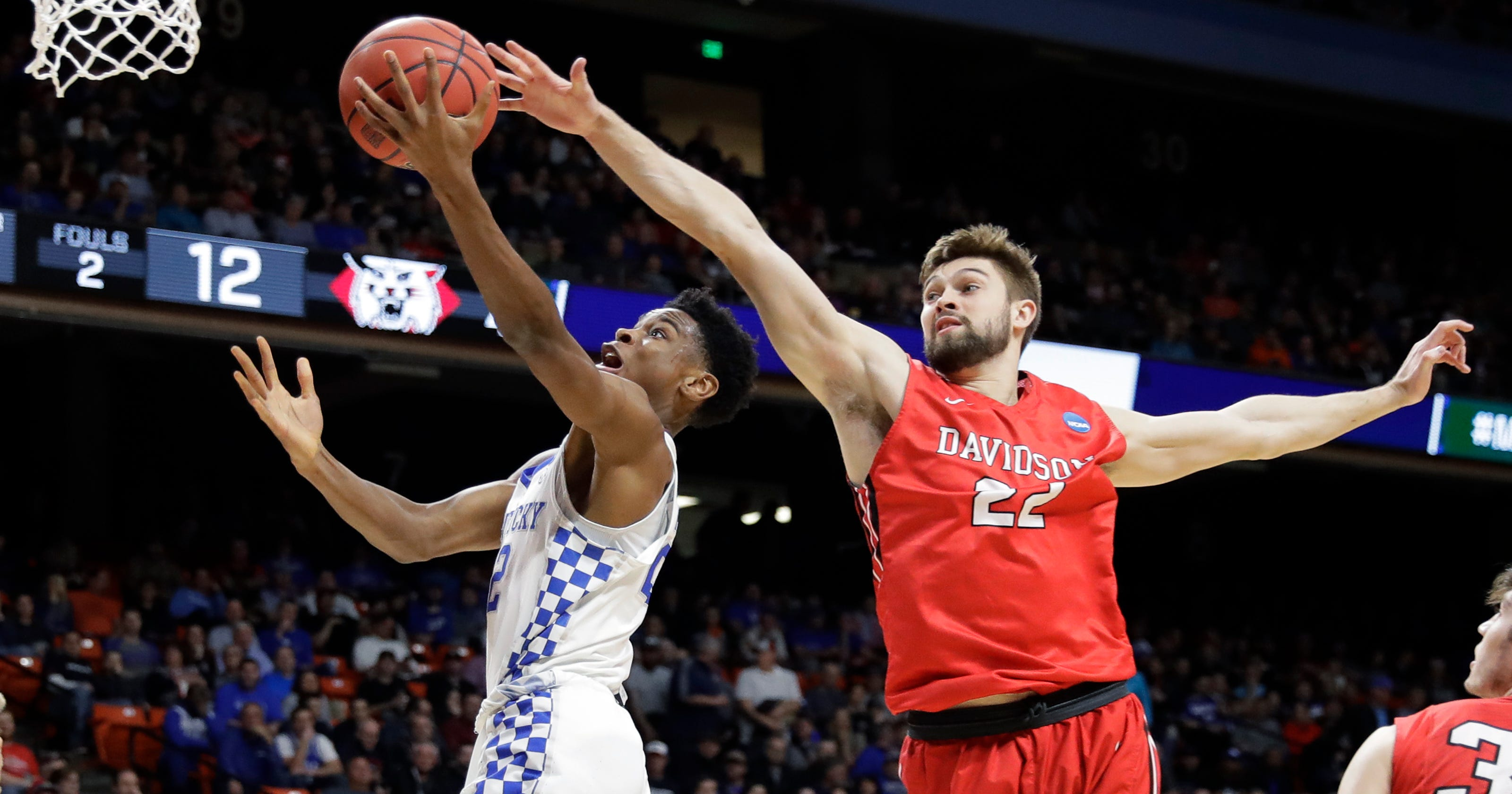 Who needs 3s? Not Kentucky in 78-73 win over Davidson