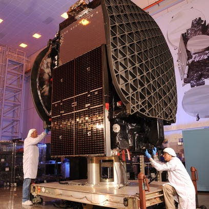 The Thaicom 8 commercial communications satellite,