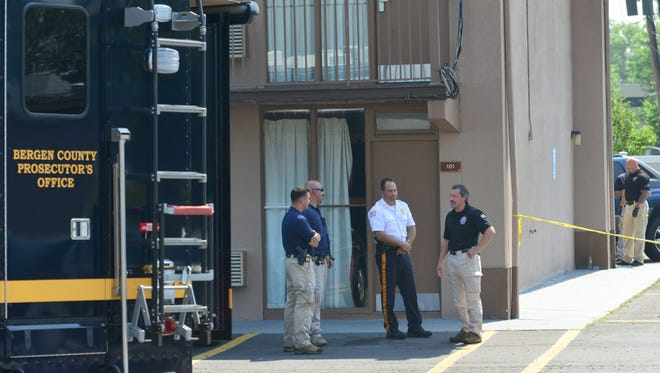 A crime scene has been set up around the Knights Inn for a murder suicide at the motel on Route 46,  has been confirmed by the South Hackensack Police Chief South Hackensack on Monday morning July 2, 2018.