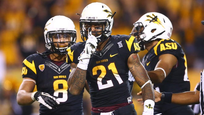 Arizona State's Jaelen Strong (21) is the top returning receiver in the Pac-12.
