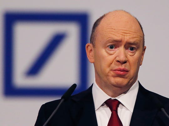 In this May 19, 2015 file photo CEO of Deutsche Bank
