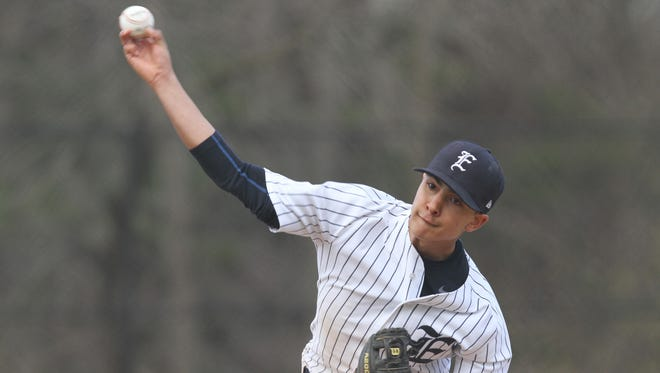 Greg Satriale turned in six strong innings as Eastchester beat visiting Pelham 14-2 Wednesday.