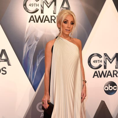 Ashley Monroe arrives on the red carpet at the 49th