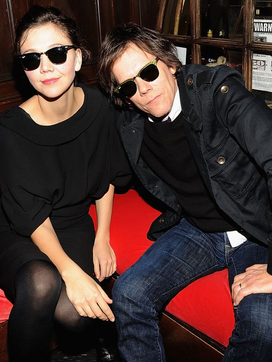 AP LUXOTTICA GROUP MAGGIE GYLLENHAAL AND KEVIN BACON A F ENT USA NY