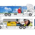 One of the mobile clinics Sanford Health is using in western North Dakota.