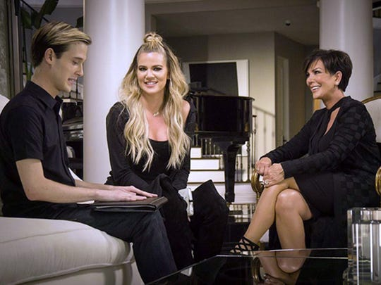 "Tyler Henry, Khloe Kardashian and Kris Jenner on ""Hollywood Medium."""