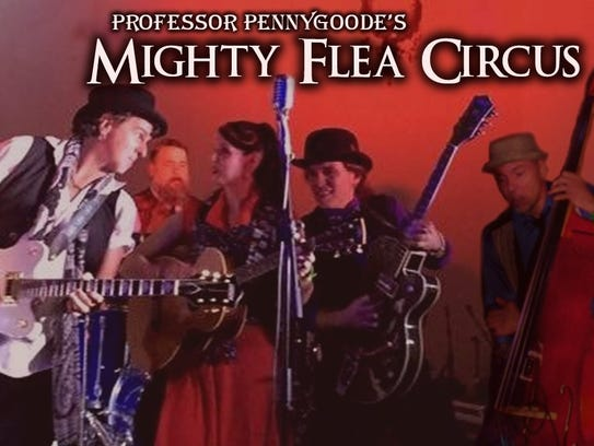 Professor Pennygoode's Mighty Flea Circus will be bringing
