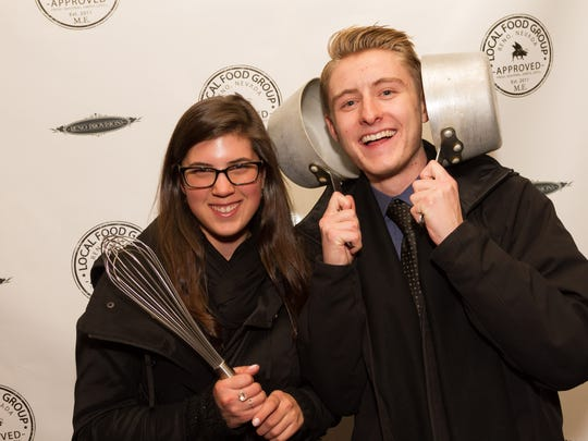 Madeline Burak and Alex Bybee attend the grand opening of Reno Provisions, chef Mark Estee's new culinary complex on North Sierra Street in downtown Reno.
