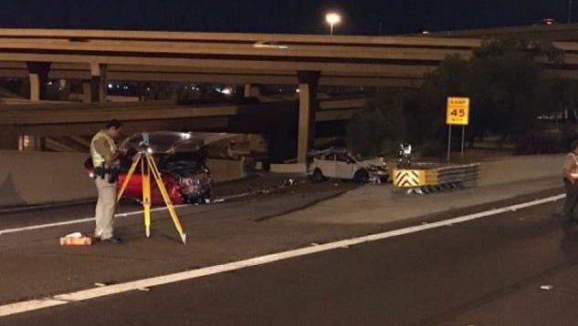 Two people were killed in a wrong-way collision on a transition ramp between Interstate 10 and State Route 51 on June 6, 2017.