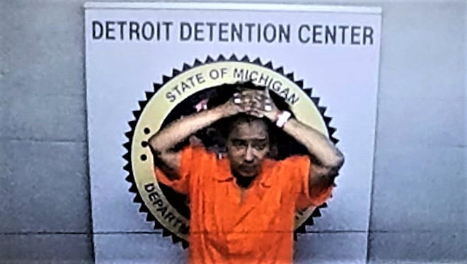 Dasiah Jordan, 26, appears on a video monitor in the 36th District Court from the Detroit Detention Center on July 17, 2018 to face charges of involuntary manslaughter and child abuse.