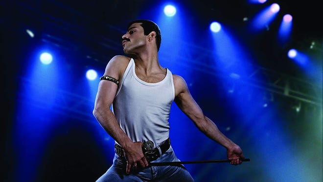 "Rami Malek as Freddie Mercury in ""Bohemian Rhapsody."""