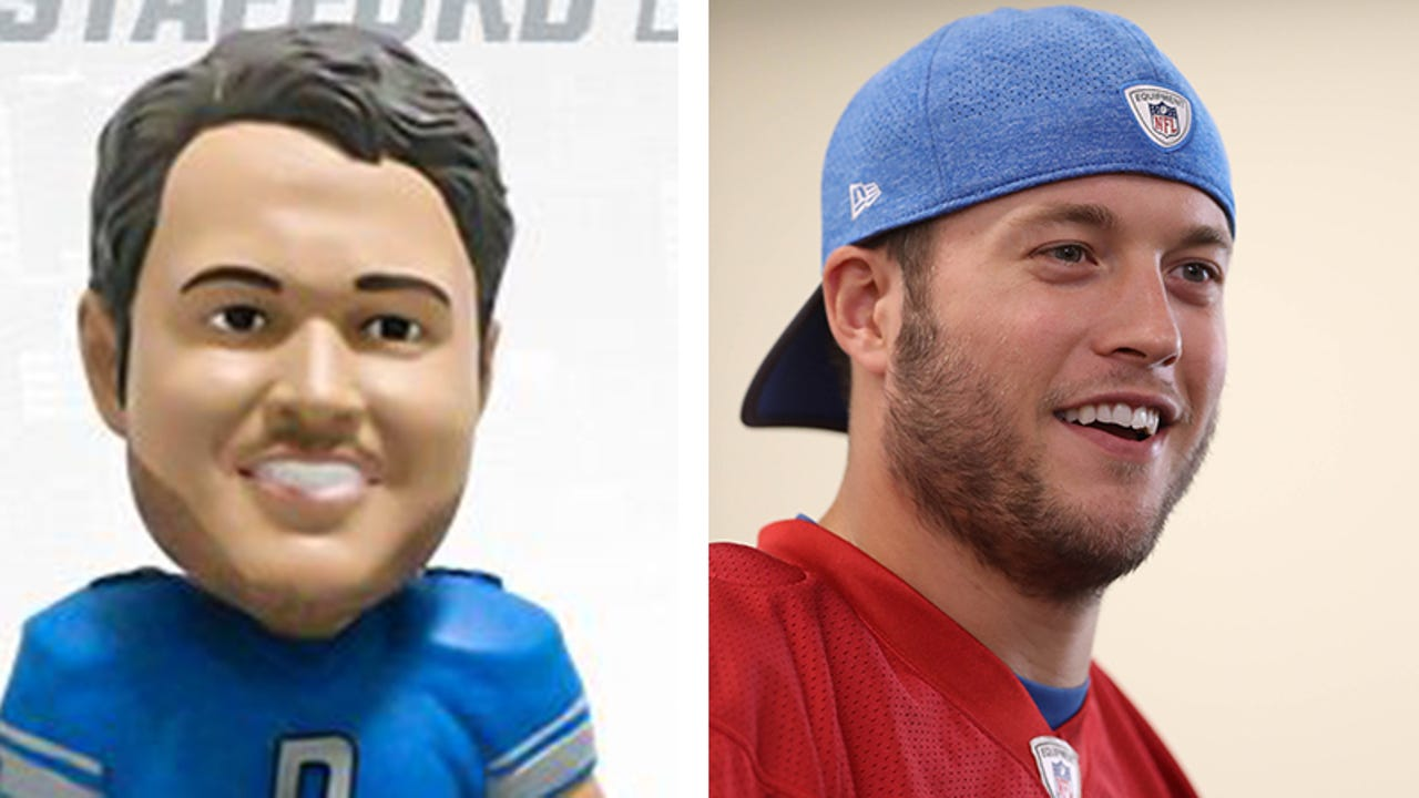 The Detroit Lions say, yes, the Matthew Stafford bobblehead doll looks like him.
