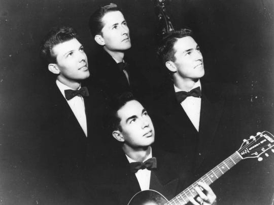 Bob Flanigan, top, is pictured in 1948 with fellow Four Freshmen members Don Barbour, Ross Barbour and Hal Kratzsch.