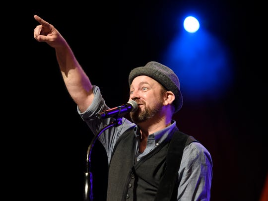 Kristian Bush performs at the Grand Ole Opry.