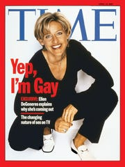 Ellen DeGeneres came out on the cover of 'Time' magazine