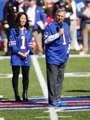 Kim and Terry Pegula are having success cross-marketing their NFL and NHL franchises. The teams, the Buffalo Bills and Sabres, are also having success this season.