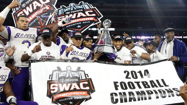 Alcorn State beat Southern to win the 2014 SWAC title game last season in Houston.