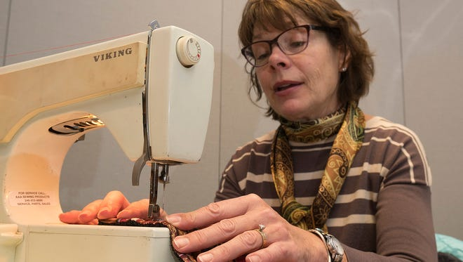 Patti Villiere is one of the volunteers who sew.