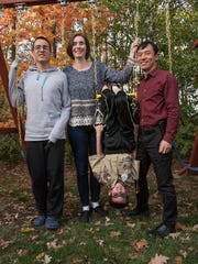 Jasper Wang, just hanging with his family. From left,