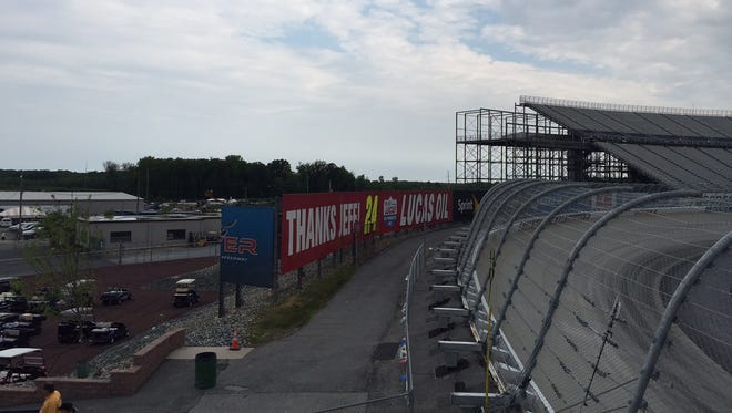 A view of where the grandstands used to be at Dover International Speedway.