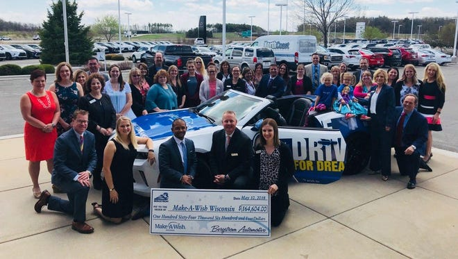 Bergstrom Automotive and Make-A-Wish Wisconsin celebrated Thursday after their partnership surpassed the $2 million mark.